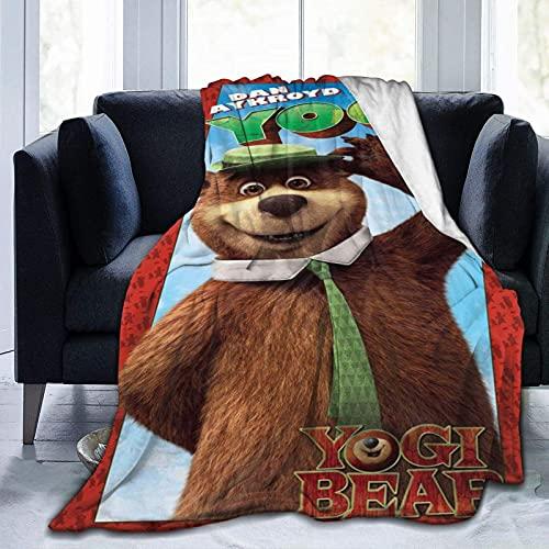 Yogi Bear Ultra Soft Micro Fleece Blanket Boys/Girls/Teen/Kid Warm Flannel Blankets and Throw Blankets All Season Sofa Bed Blanket and Living Room,50'X40'