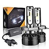 WZTO H4/9003 LED Phare Ampoules Voiture, 10000LM Feux Avants Auto Ampoule LED,Auto Kit de Conversion Ampoules pour Voiture 6000K Blanc IP65 Etanche (2 Ampoules)