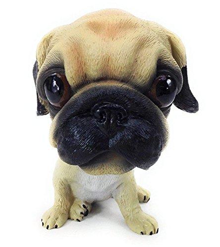 Luckyrainbow Wackelkopf Mini-Welpe Hund Figur Wackelkopf Spielzeug für Kinderzimmer mops