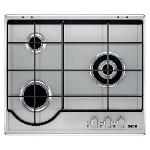 Zanussi ZGG65334XA hobs Acero inoxidable Integrado Encimera de gas - Placa (Acero inoxidable, Integrado, Encimera de gas, Acero inoxidable, 1000 W, 5,4 cm)