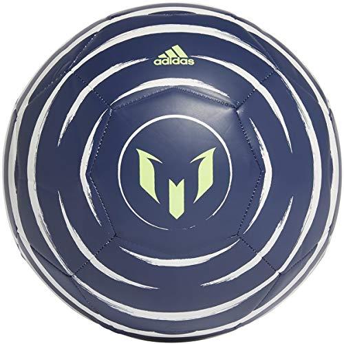 adidas Messi Club Soccer Ball Tech Indigo/White/Signal Green 5
