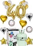Globos Helio 40 cumpleaños Aniversario y Bombona Helio Mister Helio