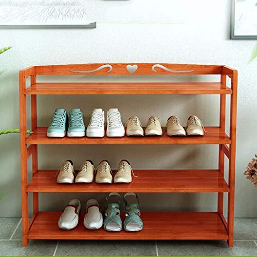 DNSJB Estante para Zapatos, gabinete de Madera Maciza en el vestíbulo, Estante para Zapatos en Color Caoba, Espacio para el hogar, gabinete para Zapatos a Prueba de Polvo (Size : 70cm)