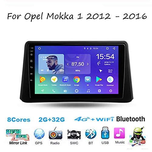 Autoradio Doppel-DIN-Autoradio für Opel Mokka 1 2012-2016 GPS Navigation Head Unit 9 Zoll-Digital-Multimedia-Player Videoempfänger Carplay DSP RDS
