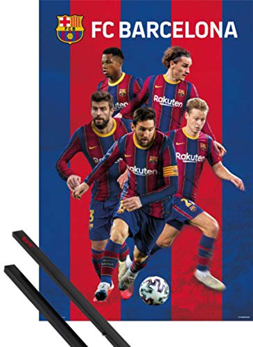 1art1 Fútbol Póster (91x61 cm) FC Barcelona 2020/2021 Group Poster Y 1...