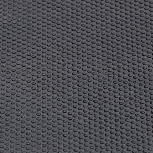Relaxdays Felpudo de coco Oh No, 1,5 x 60 x 40 cm, rectangular, antideslizante, fibra de coco, goma, negro natural