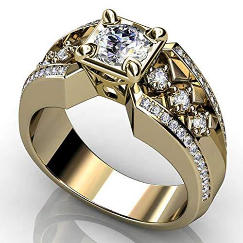 DJDLNK Gouden zirkonia ring mannen verlovingsring vrouwen volledig kristal strass ringen voor vrouwen sieraden vintage ringen geschenken