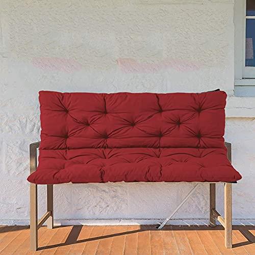 ZJHTK Cojín de repuesto para asiento de jardín de 2 plazas, acolchado de algodón, grueso, para exteriores, interior, columpio impermeable, 100 x 100 x 10 cm, rojo