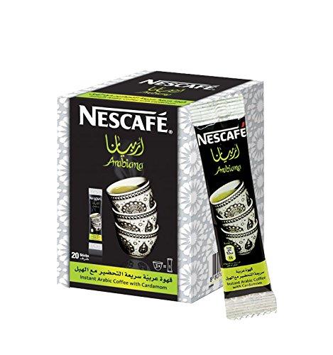 Instant Nescafe Arabiana Arabic Coffee Mix With Cardamom Flavor - Small Sticks (1 Box (20 Sticks))