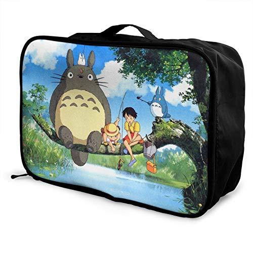 Totoro Caja de almacenamiento para equipaje de viaje Trolley Cosméticos Impermeable Ligero Gran Capacidad Bolsa de Viaje de fin de Semana de Viaje