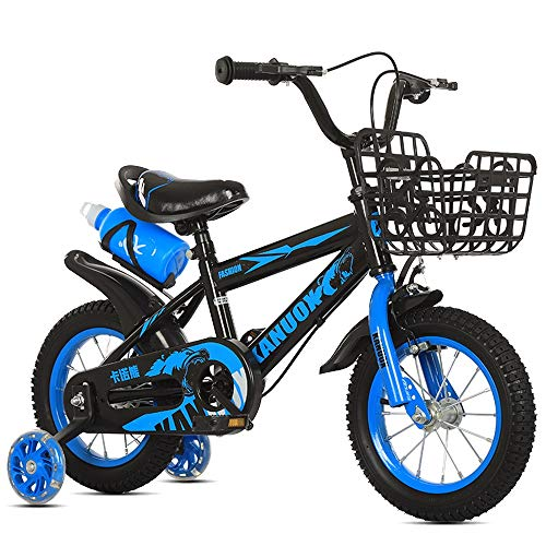 FUFU 12' 14' 16' 18' Kids' Bikes, Suitable For Girls And Boys 2-13 Years Old, Blue, White, Red (Color : Blue, Size : 12in)