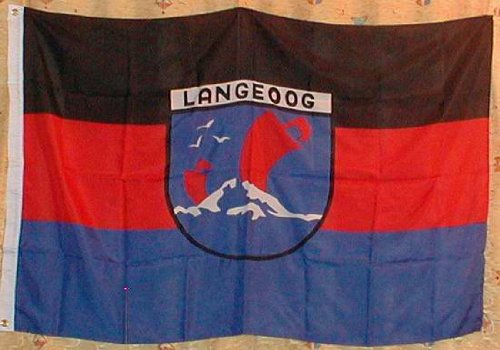 Buddel-Bini Flagge Fahne ca. 90x150 cm : Langeoog Nordsee