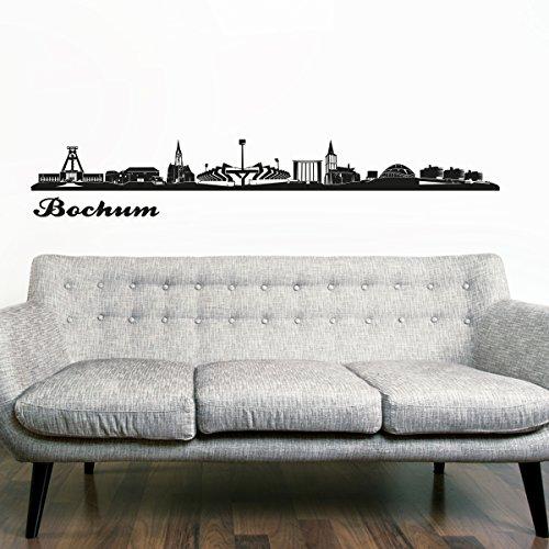 Wandkings Skyline - Deine Stadt wählbar - Bochum - 125 x 14 cm - Wandaufkleber Wandsticker Wandtattoo