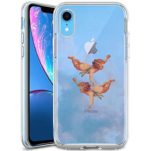 ChyFS Phone Case for iPhone Xr Angel Child Cupid Phone Clear Case,Crystal Protective Case for iPhone Xr
