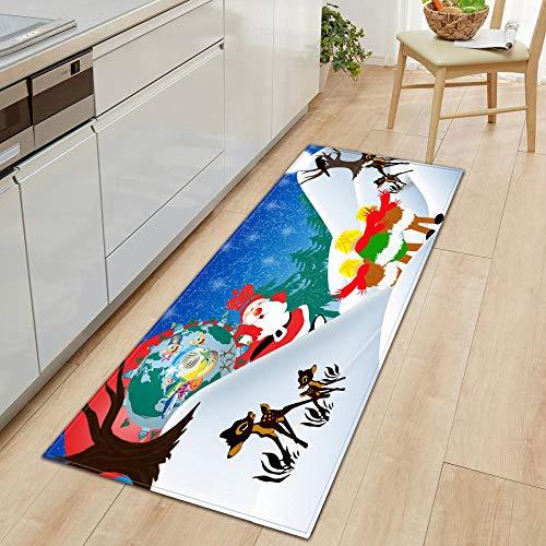 XIAOZHANG washable carpet runner Color christmas Crystal velvet Floor Rugs Anti Skid Mats Living Room Bedroom Kitchen 40x60CM