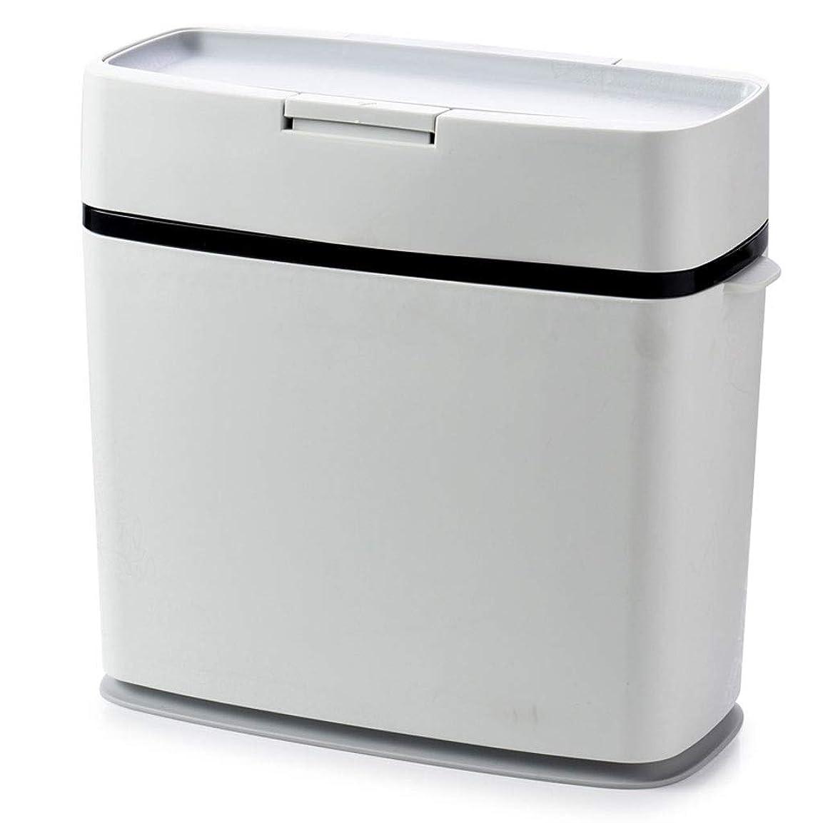 マイコン自由確立創造的なゴミは、タイプ、ふたのゴミ、16.5 * 36.5 * 33 cmと大きい家の居間の浴室のトイレのゴミ箱を押すことができます。 (Color : Black)