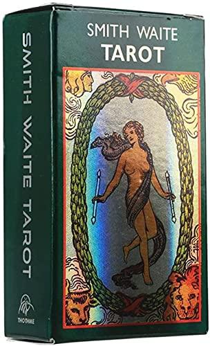 YQRX EDICIÓN CONMEMORIA DE Smith Waite Tarot (Adecuado para Juegos de Mesa en Interiores), Adecuado para Tarjetas de Fiesta y Fiestas (Bolsas, manteles)