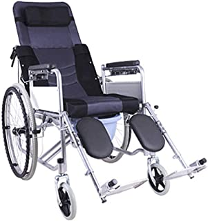 Wheelchair Lightweight Supplies Portable Foldable Transport Adult Steel Frame Medical Supplies Rehabilitation Therapy Tires Trolley Disabled Elderly fgfhfggsdfsd SZWHO