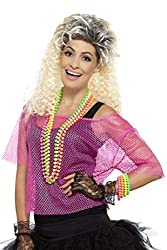 "Includes Fishnet Top, Neon Pink Bust up to 42""/ Waist up to 34""/ Hip up to 44.5""/ Leg Inseam 33"" Perfect for carnival, theme parties and Halloween This item is part of the Smiffys 1980's Fancy Dress and 1990's ranges and is also part of our 1980's ch..."