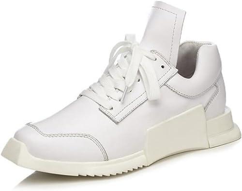 GAOLIXIA MesLes dames femmes Leather Lace Lace Up Plate Gym Chaussures paniers Trainer Pompes Taille  avec 60% de réduction