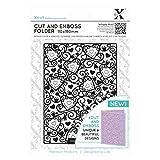 docrafts Xcut Cut & Emboss Folder 110mm X 150mm-Heart Pattern