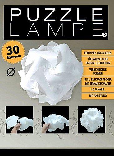 Puzzle Lampe 18,5 cm, 15 Ausführungen, Hängelampe innen + außen, Deckenleuchte