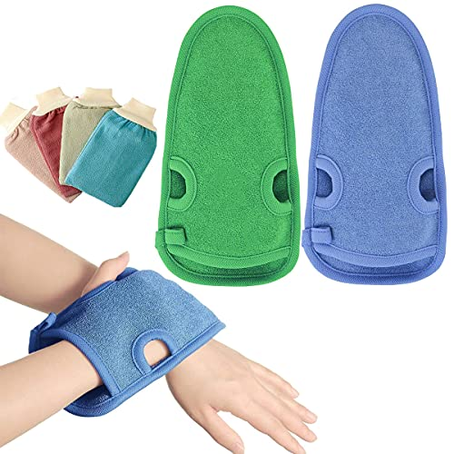 Binjor 6Pcs Guanto Esfoliante peeling corpo viso gambe spugna doccia per peeling scrub corpo da...