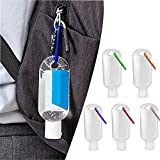 5 Packs Travel Plastic Clear Keychain Bottles,Empty Leakproof Squeeze Containers Flip Cap Small Refillable Containers for Toiletry Shampoo Lotion Soap