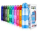 HoneyHolly Portable Sports Water Bottle-Leak Proof Kids Water Bottle Reusable Container,One Click Flip Cap14/17/24/26/32/50Ounce,for Outdoor/Camping/Running/Gym,Non Toxic,BPA-Free Tritan Plastic