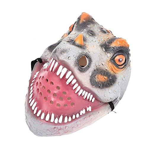 Turtle Story Xwywp Halloween-Maske Halloween Rave Maske Zubehör □□□□□ Frill Dinosaurier Masquerade Festival Emulsion Realistische Kostüm Spielzeug Maske A JXNB (Color : A)