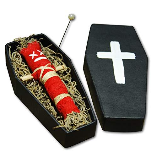 Coffin Doll Red - Muñeca de vudú original con sargo, aguja e...