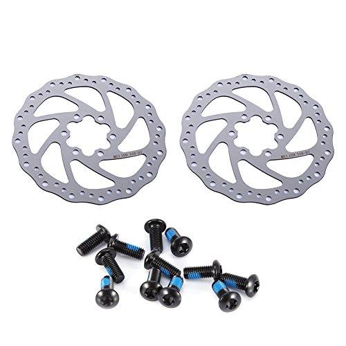 OhhGo Rotor de Freno de Disco 2 Piezas Kit de Freno de Rotor de Freno de Disco de Ciclismo para Bicicleta de Carretera Bicicleta de Montaña MTB BMX