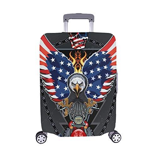 (Solo Cubrir) Motocicleta Esqueleto Piloto American Eagle USA Maleta con Ruedas Maleta Protectora de Viaje Maleta Cubierta Protectora para con Maleta de Viaje 28.5 X 20.5 Inch