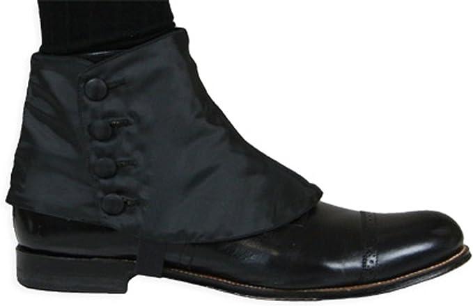 Spats, Gaiters, Puttees – Vintage Shoes Covers Historical Emporium Mens Premium Satin Button Spats  AT vintagedancer.com