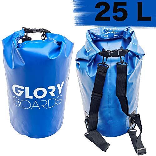 Premium Drybag - 100% waterdichte rugzak - robuust materiaal - watervaste tas voor raften, zeilen, kajak, stand up paddling, vissen - ideale rugzak voor reizen - outdoor tas in 25 l