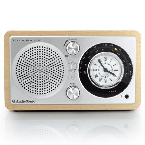 AudioSonic RD-1541 Retro Radiowecker (UKW/MW-Tuner, AUX-IN)