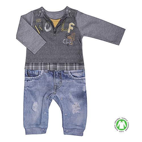 Sevira Kids - Combinaison dors-bien bébé garçon en coton biologique - Loup