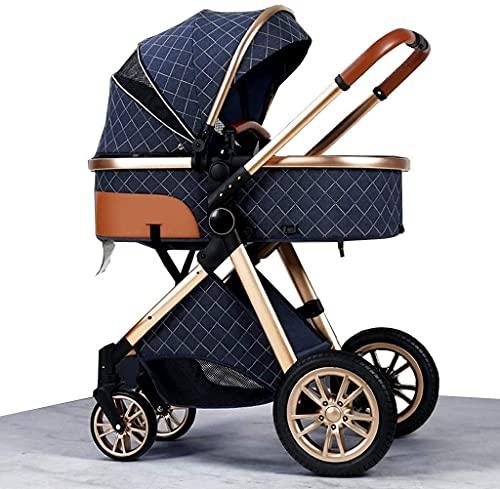 Chilequano Sistema de viaje Cochecito de bebé, cochecito de paraguas urbano, cochecito de bebé recién nacido liviano con rueda de amortiguación de goma, carro de bebé plegable con organizador de coche