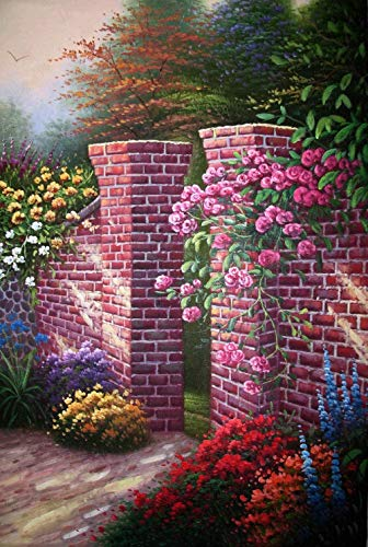 5D Diamond Painting Kit for Adults Kids Flowers in Front of The Door DIY Arts Craft for Home Wall Decor Birthday Gifts -30x40cm