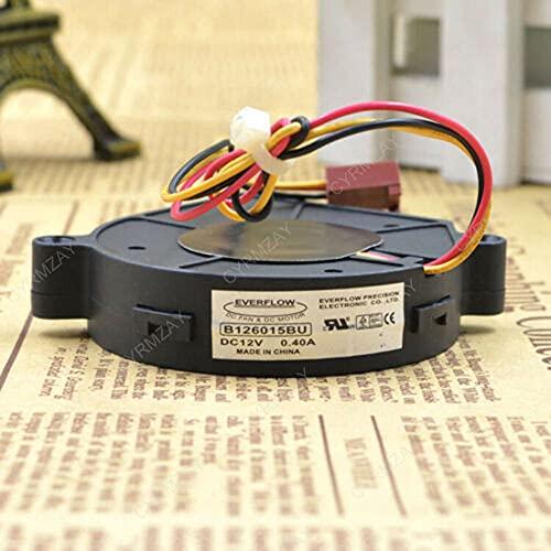 CYRMZAY Compatible for EVERFLOW B126015BU 6CM 60 * 60 * 15MM 12V 0.4A 3Pin Blower Cooling Ventilador