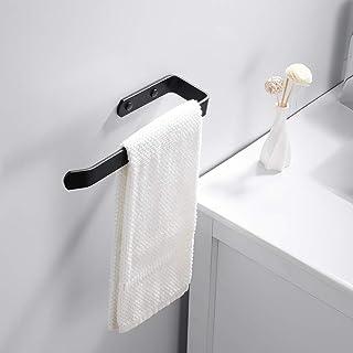 supporto per asciugacapelli Supporto per asciugacapelli con porta cavo per bagno in alluminio opaco nero JTWEB supporto per asciugacapelli e piastra lisciante montaggio a parete