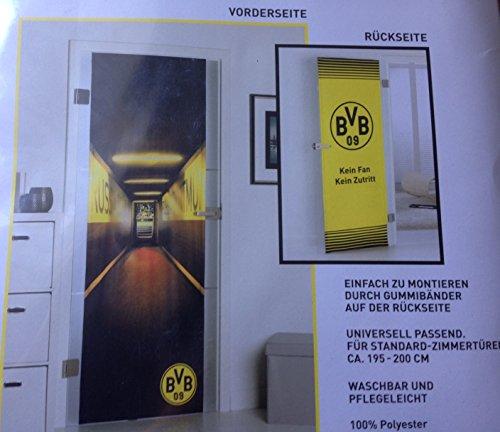 Türbezug BVB Borussia Dortmund ca. 70cm breit Universal Passen für Standard Zimmertüren ca. 195x200cm