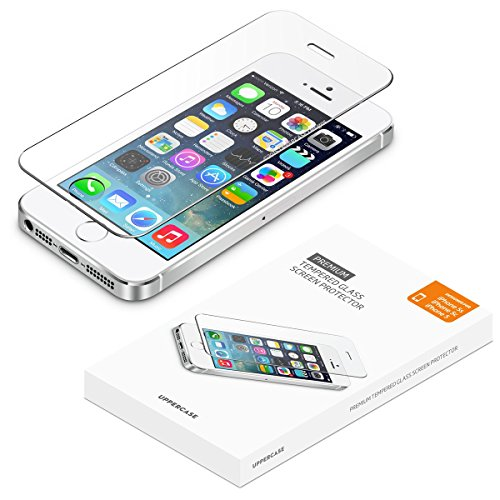 [2 Pack] UPPERCASE Designs Premium Anti-Scratch 2.5D Round Edge Case Friendly Tempered Glass Screen Protector, Compatible with iPhone 5/5S/SE 2016 Edition [4.0 inch Screen]