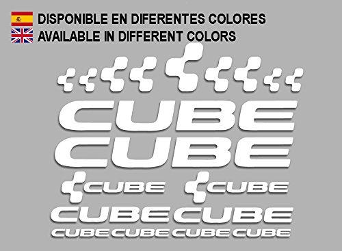 Ecoshirt AJ-K1JS-SMOC Sticker Cube F177 Vinyl Decal Sticker Decal Sticker MTB Bike wit