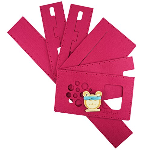 Filztaschen-Nähset für hörbert, den MP3-Player für Kinder aus Holz. (Fuchsia)