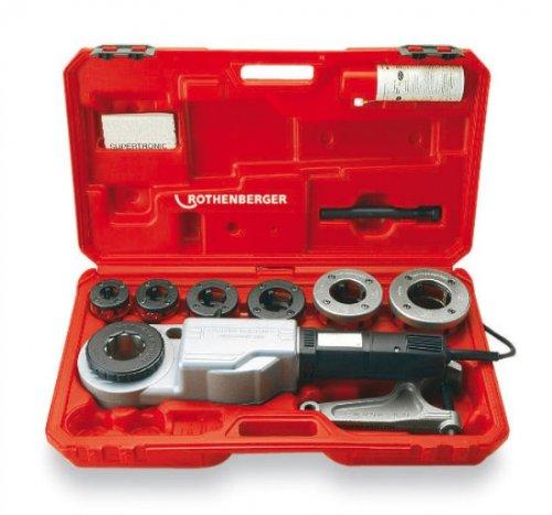 Rothenberger 71258 - Filettatrice elettrica portatile Supertronic 2000, 5,8 cm, set con bussole in valigetta