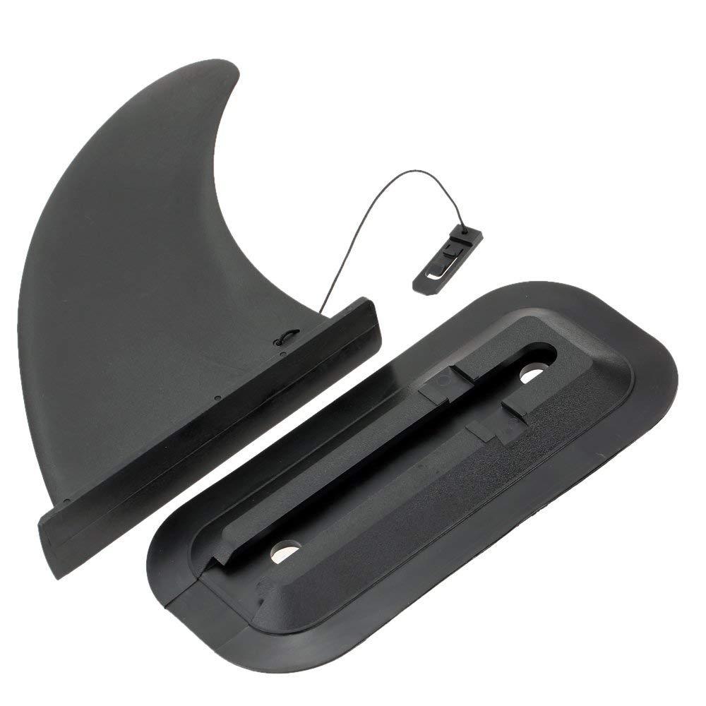 Docooler 1pc Large Size Skeg Tracking Fin Kayak Fin Watershed Board for Canoe Boat Black