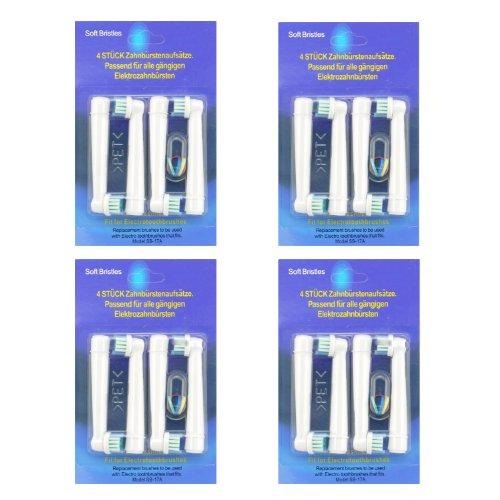Kongkay® 16 PCS EB17 la cabeza de cepillo de dientes reemplazadas compatibles...