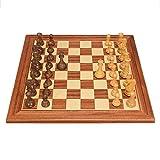 XLYYHZ Juego Internacional de ajedrez, Tablero de ajedrez de Madera Grande, Piezas de ajedrez Hechas a Mano, Estrategia de Inteligencia, Juego de ajedrez para niños y Adultos, 50x50x2cm