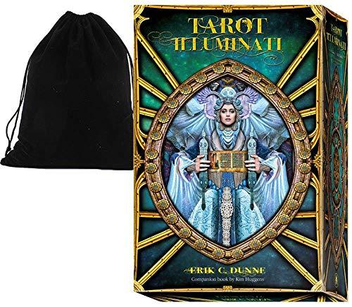 Shop4top Tarot Illuminati Karten Deck Buch Set und Tasche Lo Scarabeo EX205